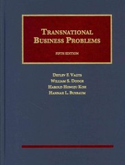 Transnational Business Problems 5th Edition 9781609300845 160930084X