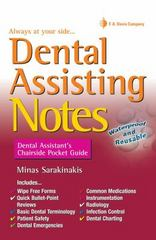 Dental Assisting Notes 1st Edition 9780803638228 0803638221