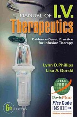 Manual of IV Therapeutics 6th Edition 9780803640849 0803640846