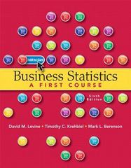 Business Statistics 6th Edition 9780321937957 0321937953