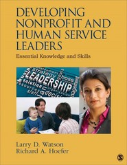 Developing Nonprofit and Human Service Leaders 1st Edition 9781483313498 1483313492