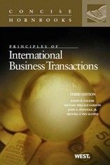 Folsom, Gordon, Spanogle, and Van Alstine's Principles of International Business Transactions, 3d (Concise Hornbook Series) 3rd Edition 9780314286598 0314286594