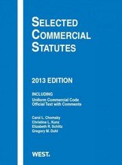 Selected Commercial Statutes 2013 2013th Edition 9780314288370 0314288376