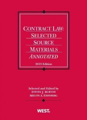 Burton and Eisenberg's Contract Law 1st Edition 9780314288455 0314288457