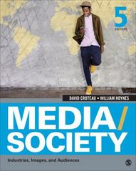 Media/Society 5th Edition 9781452268378 1452268371