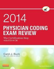 Physician Coding Exam Review 2014 1st Edition 9781455722877 1455722871