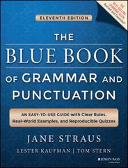 The Blue Book of Grammar and Punctuation 11th Edition 9781118790212 1118790219
