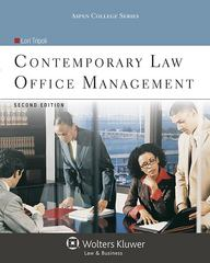 Contemporary Law Office Management 2nd Edition 9781454838807 1454838809