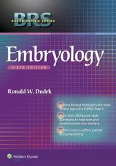 BRS Embryology 6th Edition 9781451190380 1451190387