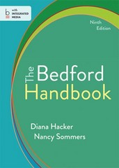 The Bedford Handbook 9th Edition 9781457650802 1457650800