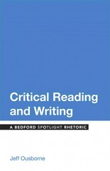 Critical Reading and Writing 1st Edition 9781457674327 1457674327