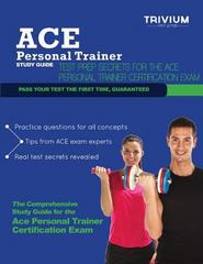 ACE Personal Trainer Study Guide 1st Edition 9780615832876 0615832873
