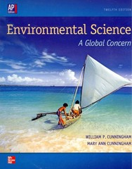 Environmental Science: A Global Concern, AP William P Cunningham, University of Minnesota---Minneapolis Mary Ann Cunningham, VASSAR COLLEGE 12th Edition 9780076618941 0076618943