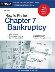 How to File for Chapter 7 Bankruptcy 19th Edition 9781413321951 141332195X