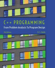 C++ Programming 7th Edition 9781285852744 1285852745