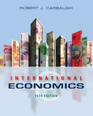 International Economics 15th Edition 9781285854359 1285854357