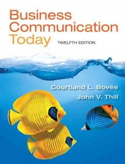 Business Communication Today 12th Edition 9780132971294 0132971291