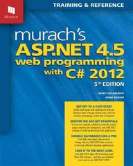 Murach's ASP.NET 4.5 Web Programming with C# 2012 5th Edition 9781890774752 1890774758
