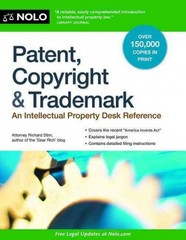 Patent, Copyright and Trademark 13th Edition 9781413319699 1413319696