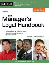 The Manager's Legal Handbook 7th Edition 9781413319859 1413319858