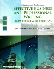 Effective Business and Professional Writing 2nd Edition 9781465219442 1465219447