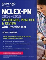 NCLEX-PN 2014-2015 Strategies, Practice, and Review with Practice Test 1st Edition 9781618653772 1618653776
