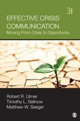 Effective Crisis Communication 3rd Edition 9781452257518 1452257515