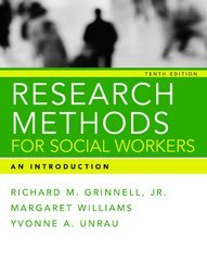 Research Methods for Social Workers 10th Edition 9780981510064 098151006X