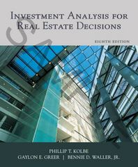 Investment Analysis for Real Estate Decisions 8th Edition 9781427742056 1427742057