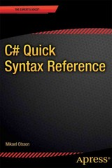 C# Quick Syntax Reference 1st Edition 9781430262800 143026280X