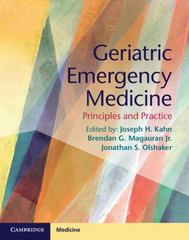 Geriatric Emergency Medicine 1st Edition 9781107677647 1107677645