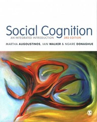 Social Cognition 3rd Edition 9781446210529 1446210529