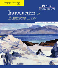 Cengage Advantage Books: Introduction to Business Law 5th Edition 9781285860398 128586039X