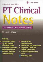 PT Clinical Notes: A Rehabilitation Pocket Guide 1st Edition 9780803641068 0803641060