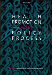 Health Promotion and the Policy Process 1st Edition 9780199658039 019965803X