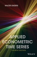 Applied Econometric Time Series 4th Edition 9781118808566 1118808568