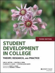 Student Development in College 3rd Edition 9781118821862 1118821866