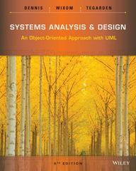Systems Analysis and Design 5th Edition 9781118804674 1118804678