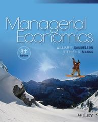 Managerial Economics 8th Edition 9781118808948 1118808940