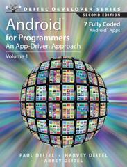 Android for Programmers 1st edition 9780132121361 0132121360