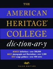 The American Heritage College Dictionary 3rd Edition 9780395671610 0395671612