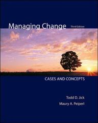 Managing Change 3rd Edition 9780073102740 0073102741