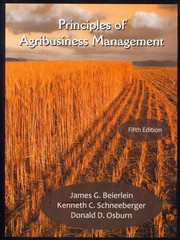 Principles of Agribusiness Management 5th Edition 9781478605669 1478605669