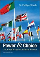 Power & Choice 14th edition 9780078024771 0078024773
