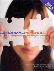 Abnormal Psychology 7th Edition 9781259133381 1259133389