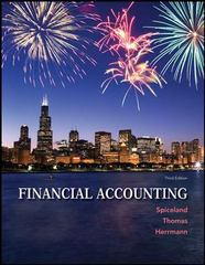 Financial Accounting with Connect Plus w/LearnSmart 3rd Edition 9781259134791 1259134792