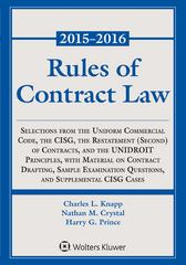 Rules of Contract Law 2014-2015 Statutory Supplement 1st Edition 9781454840596 1454840595