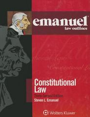 Emanuel Law Outlines 32th Edition 9781454840893 1454840897