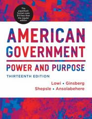 American Government 13th Edition 9780393124132 0393124134