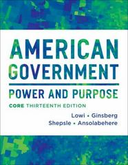 American Government 13th Edition 9780393922455 0393922456